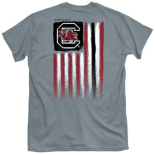 Load image into Gallery viewer, PALMETTO SHIRT CO. UNIVERISTY OF SOUTH CAROLINA USA FLAG SHORT SLEEVE T-SHIRT