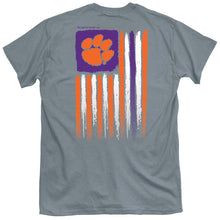 Load image into Gallery viewer, PALMETTO SHIRT CO. Clemson University USA Flag Short Sleeve T-shirt