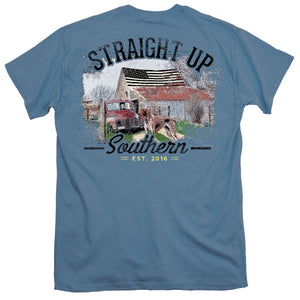 Straight Up Southern Patriotic Barn Short Sleeve T-shirt