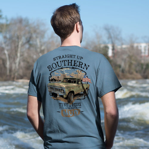 STRAIGHT UP SOUTHERN MUD TRUCK SHORT SLEEVE T-SHIRT