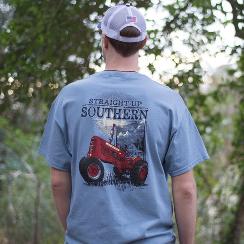 STRAIGHT UP SOUTHERN SUNSHINE TRACTOR SHORT SLEEVE T-SHIRT