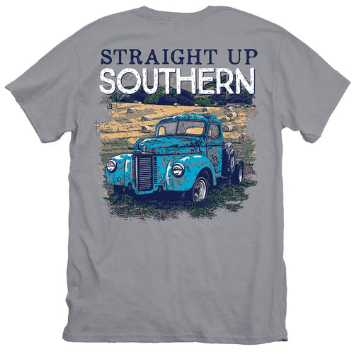 Straight Up Southern Field Truck Short Sleeve T-shirt