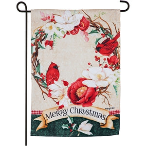 Evergreen Southern Holiday Charm Suede Garden Flag