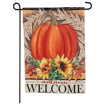 Evergreen Festive Autumn Suede Garden Flag