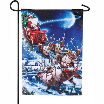 Evergreen Christmas Eve Solar LED Garden Flag