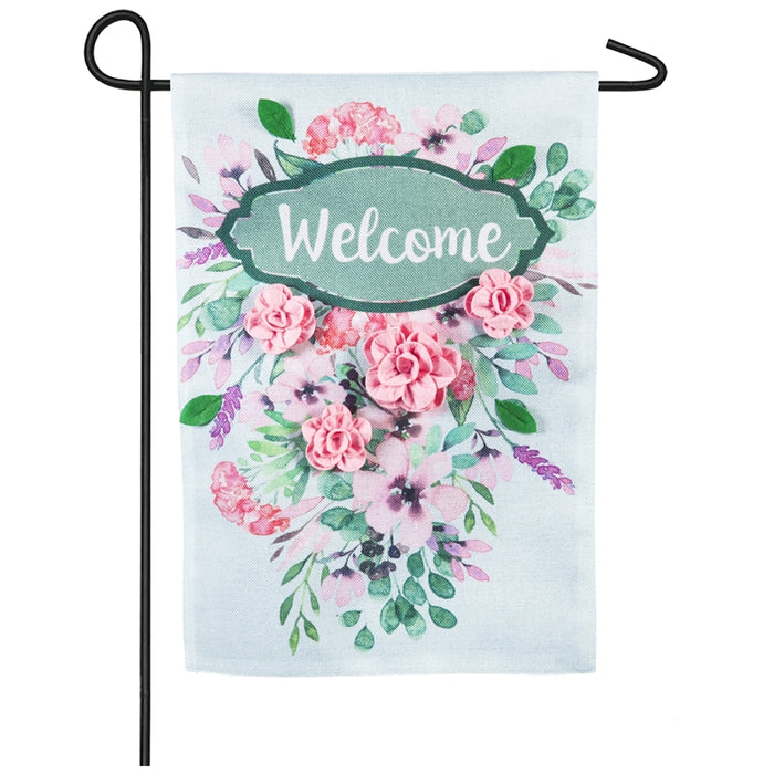 EVERGREEN SPRING WELCOME GARDEN FLAG