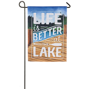 EVERGREEN LIFE BETTER LAKE GARDEN FLAG