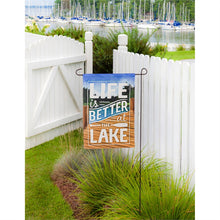 Load image into Gallery viewer, EVERGREEN LIFE BETTER LAKE GARDEN FLAG