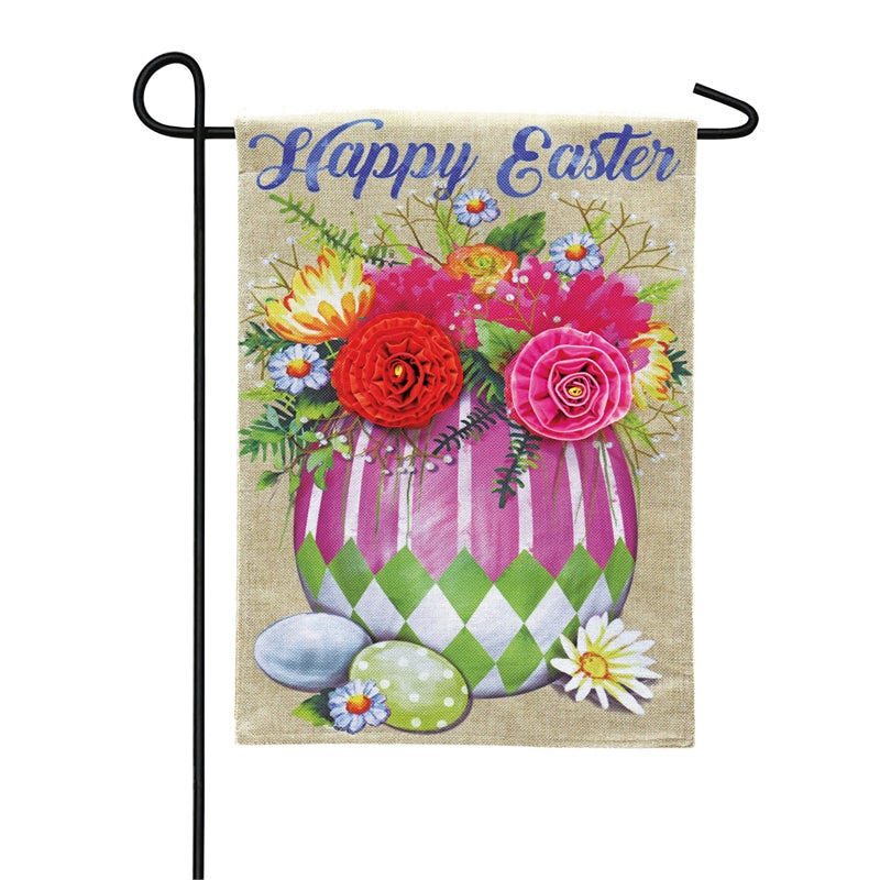 EVERGREEN EASTER FLOWER GARDEN FLAG