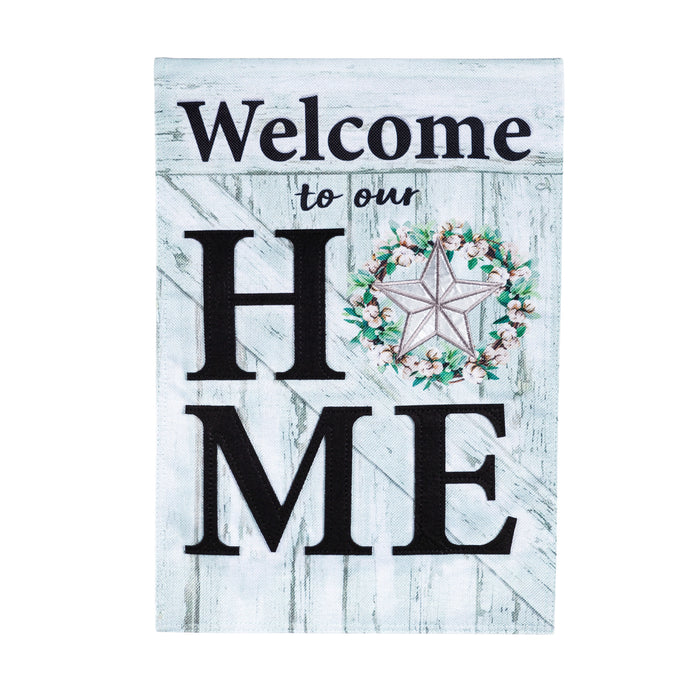 Evergreen Country Star Home Burlap Garden Flag