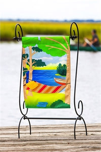 EVERGREEN RELAXING DAYS LINEN GARDEN FLAG