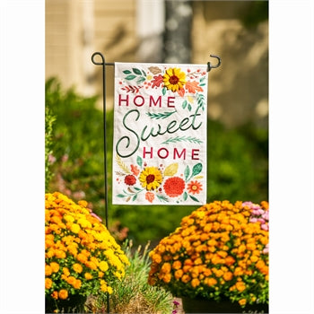 Evergreen Home Sweet Home Linen Garden Flag