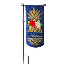 Load image into Gallery viewer, EVERGREEN PINEAPPLE WELCOME XL GARDEN FLAG