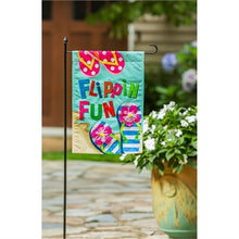 Load image into Gallery viewer, EVERGREEN FLIPPIN FUN GARDEN FLAG