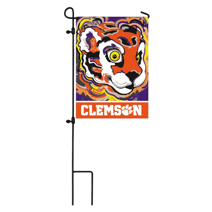 EVERGREEN CLEMSON JUSTIN PATTEN GARDEN FLAG