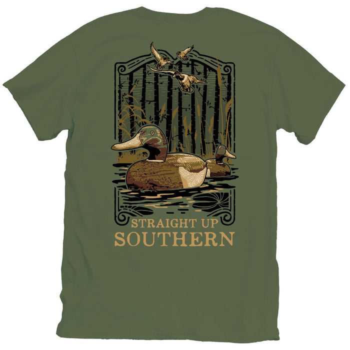 STRAIGHT UP SOUTHERN DUCK DECOY SHORT SLEEVE T-SHIRT