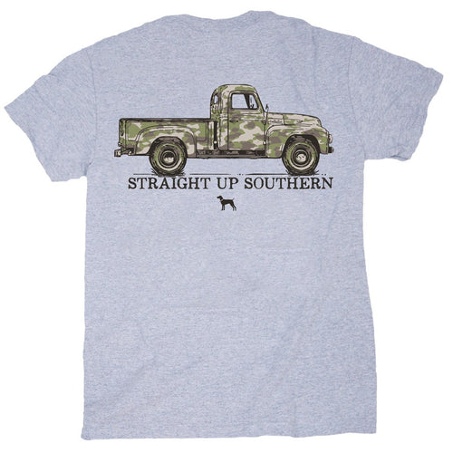 Straight Up Southern Camo Truck Youth Short Sleeve T-shirt