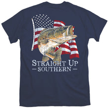Load image into Gallery viewer, Straight Up Southern Bass America Short Sleeve T-shirt