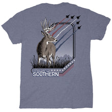 Load image into Gallery viewer, STRAIGHT UP SOUTHERN PATRIOTIC DEER SHORT SLEEVE T-SHIRT