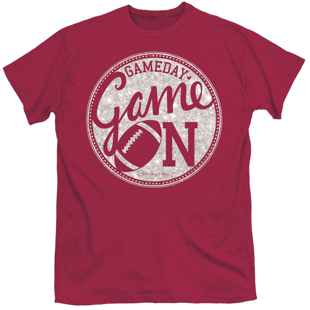 ITS A GIRL THING GAME ON GARNET SHORT SLEEVE T-SHIRT