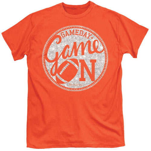 ITS A GIRL THING GAME ON ORANGE SHORT SLEEVE T-SHIRT