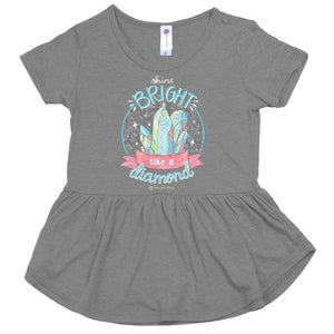 ITS A GIRL THING SHINE BRIGHT YOUTH PEPLUM