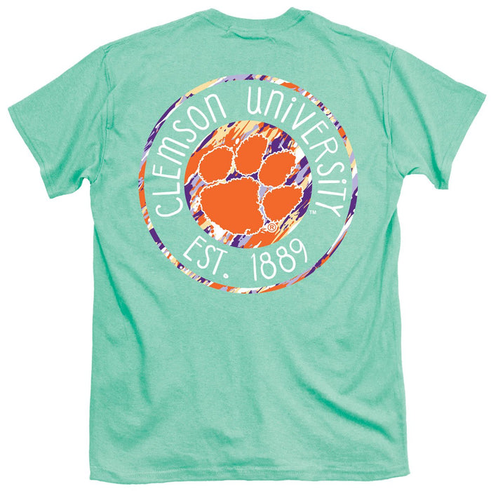 PALMETTO SHIRT CO. CLEMSON PAINTED LOGO SHORT SLEEVE T-SHIRT