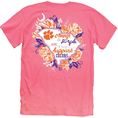 Palmetto Shirt Co. Clemson Happiest Colors T-shirt