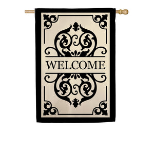 EVERGREEN SP20 CAMBRIDGE WELCOME APPLIQUE HOUSE FLAG