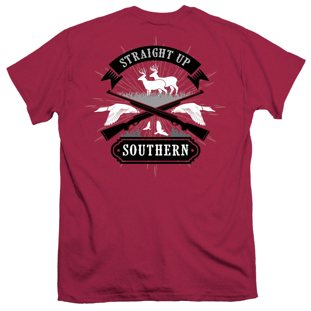 Straight Up Southern Hunting Quarters T-shirt