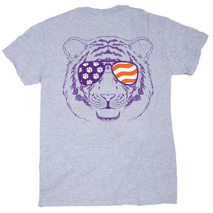 Palmetto Shirt Co. Clemson Tiger Mason Jar Sunglasses T-shirt