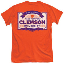 Load image into Gallery viewer, Palmetto Shirt Co. Clemson Vintage Label T-shirt