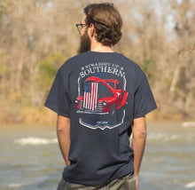 Load image into Gallery viewer, STRAIGHT UP SOUTHERN PATRIOTIC TRUCK HOOD T-SHIRT