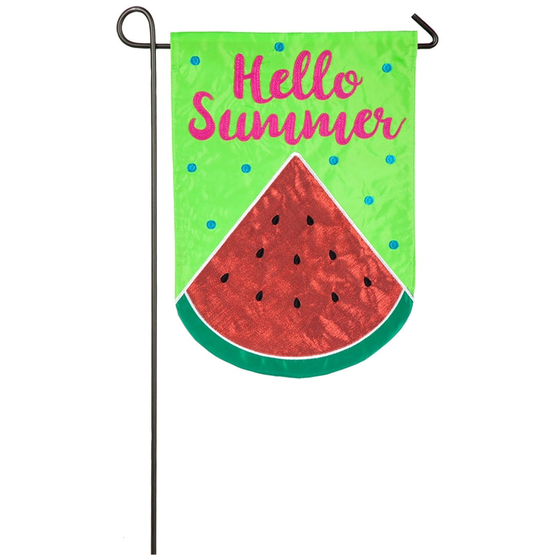 EVERGREEN HELLO SUMMER GARDEN FLAG