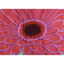Load image into Gallery viewer, EVERGREEN GERBERA DAISY STRIPE GARDEN FLAG