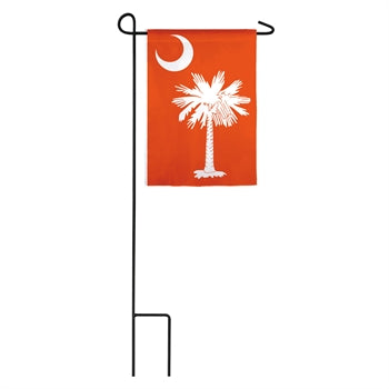 Evergreen South Carolina Orange Palmetto Applique Garden Flag