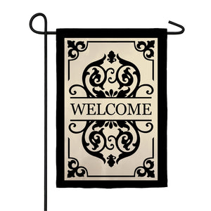EVERGREEN CAMBRIDGE WELCOME GARDEN APPLIQUE FLAG