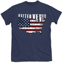 Load image into Gallery viewer, Straight Up Southern United We Win T-shirt - Navy
