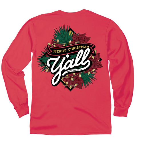 Palmetto Shirt Co. Merry Christmas Y'all Long Sleeve T-shirt