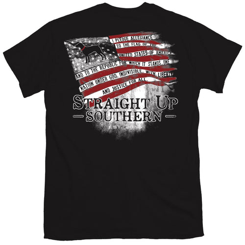 Straight Up Southern Pledge Flag Youth Short Sleeve T-shirt
