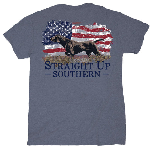 Straight Up Southern Pointer Flag Youth Short Sleeve T-shirt