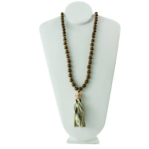 MICHELLE MCDOWELL HAMPTON NECKLACE - ZEBRA