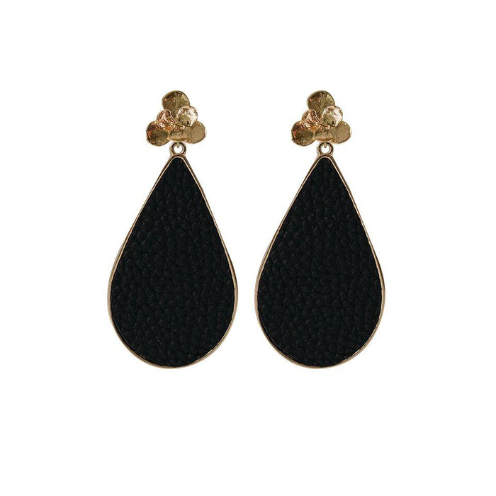 MICHELLE MCDOWELL MIAMI EARRINGS BLACK