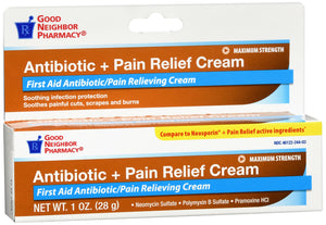Good Neighbor Pharmacy Antibiotic Plus Pain Cream 1oz
