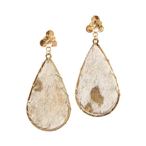 Michelle McDowell Cream Metallic Miami Earrings
