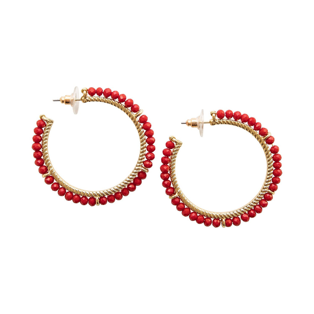 MICHELLE MCDOWELL EARRINGS - BELMONT RED