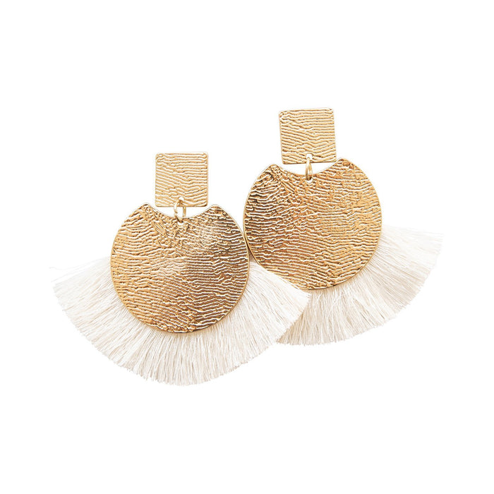 Michelle McDowell White Winslow Earrings