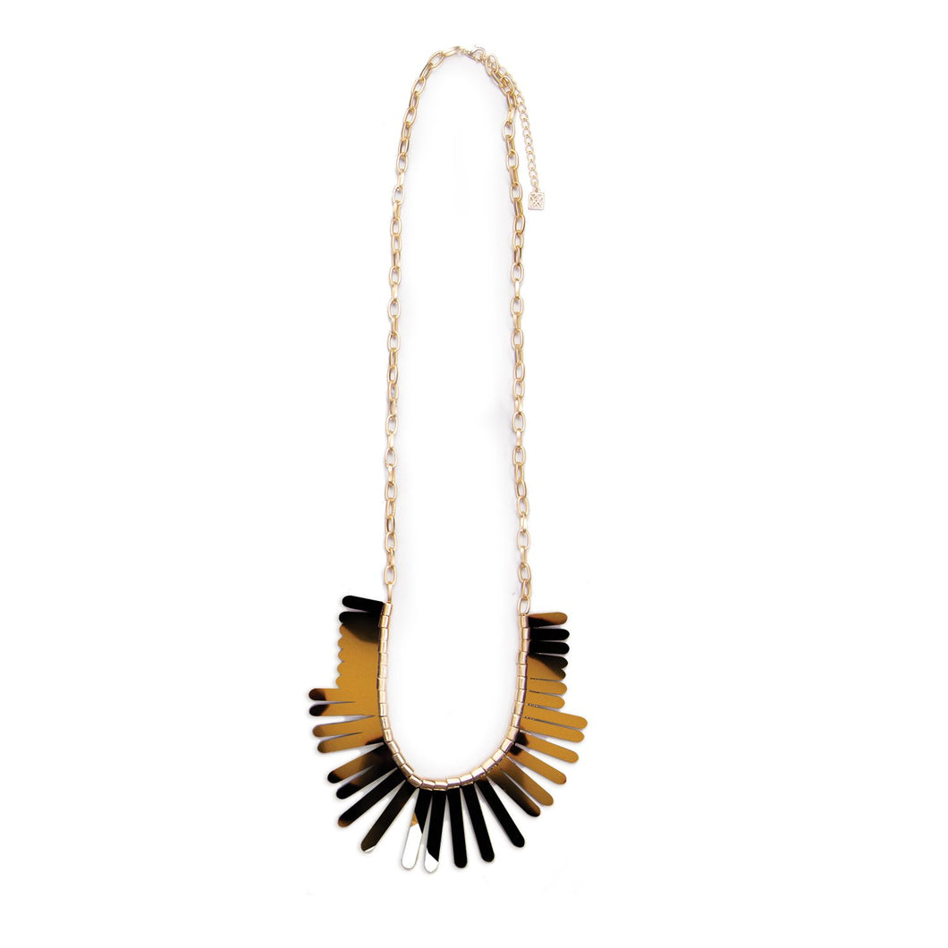 MICHELLE MCDOWELL HENDERSON NECKLACE DARK TORTOISE