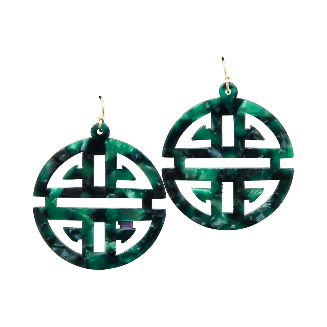 Michelle McDowell Green Grayling Earrings