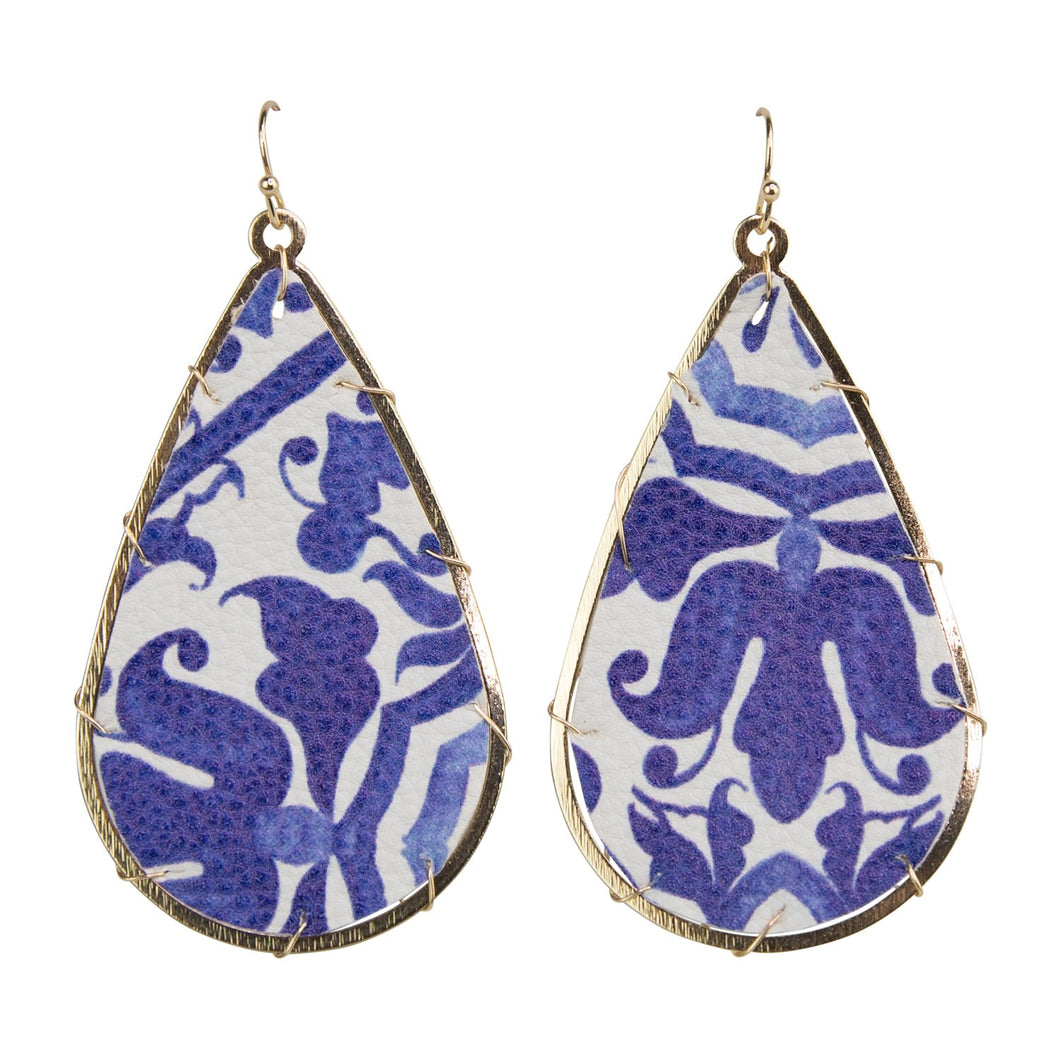 Michelle McDowell Miami Chinoiserie Earrings